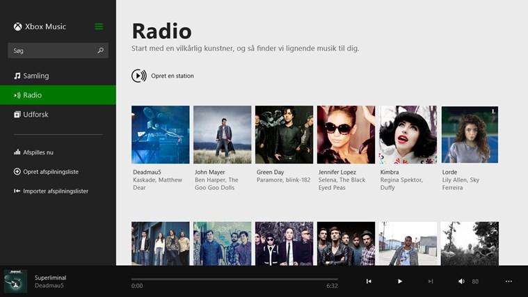 Musik skærmbillede 1