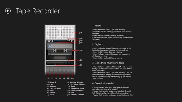 Tape Recorder Pro screen shot 1