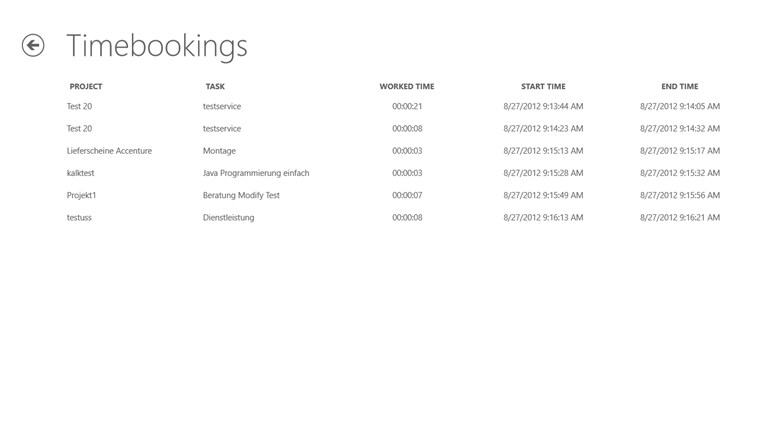 Verpura Timetracking Application Screenshot 3