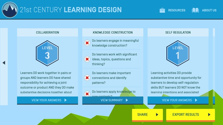 21st Century Learning Design screen shot 3