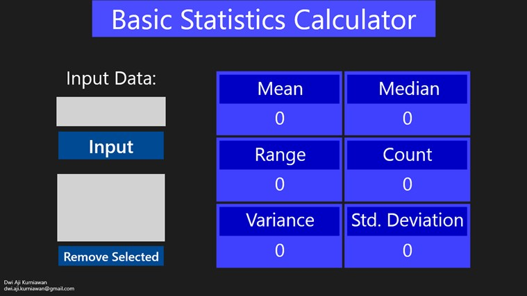 Basic Statistic Calculator screen shot 1