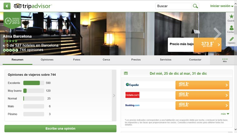 TripAdvisor Hotels Flights Restaurants captura de pantalla 3