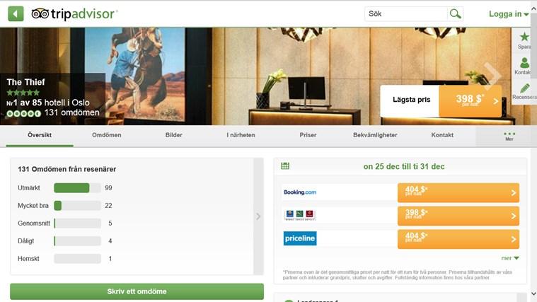 TripAdvisor Hotels Flights Restaurants-skärmbild 3