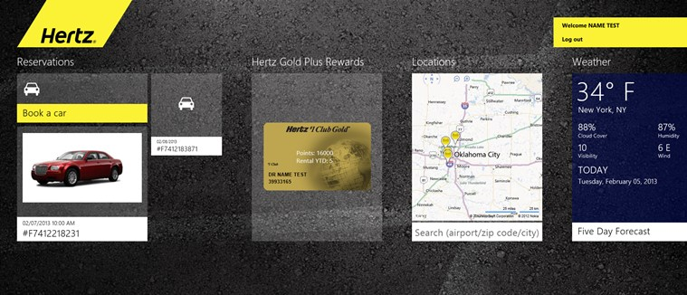 Hertz Car Rental screen shot 1