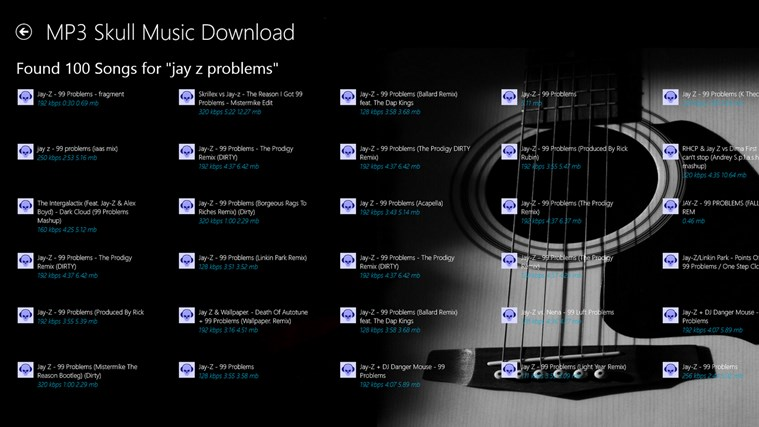 Mp3 Skull Music Download FREE screen shot 1