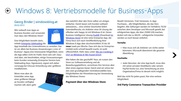 WindowsBlog Neuigkeiten Screenshot 1
