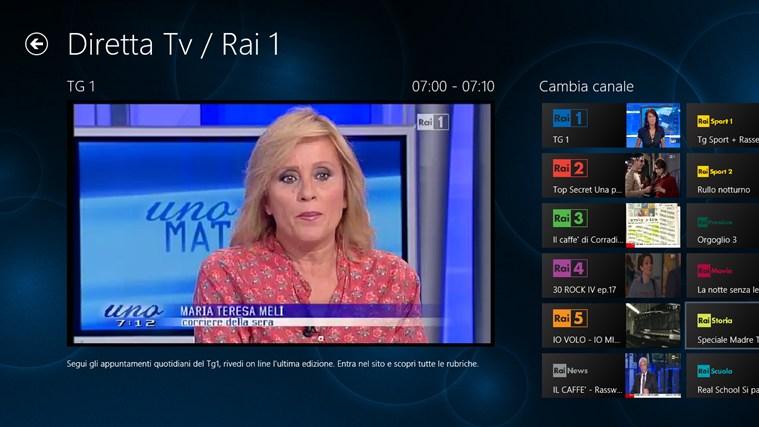 Rai.tv cattura di schermata 1