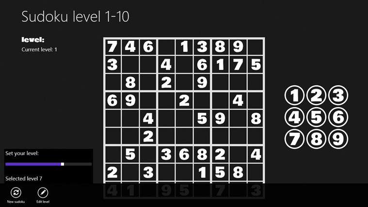 Sudoku level 1-10 i-screen shot 1