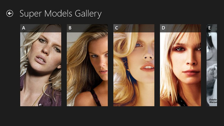Super Models Gallery screen shot 3