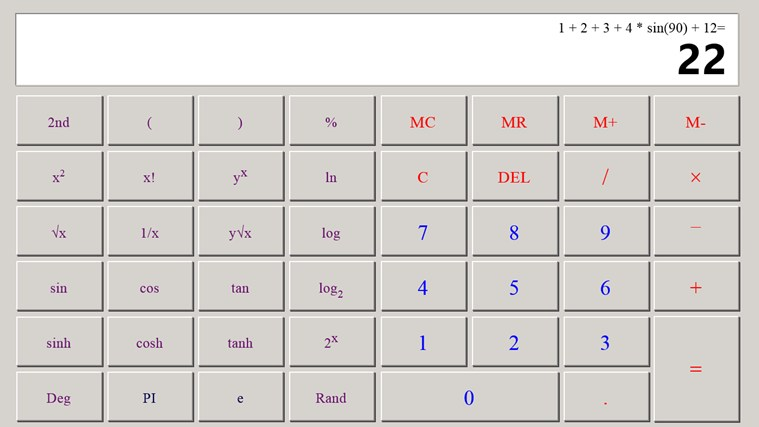 Calculator X8 screen shot 3