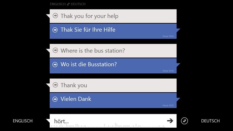 Bing Übersetzer Screenshot 1