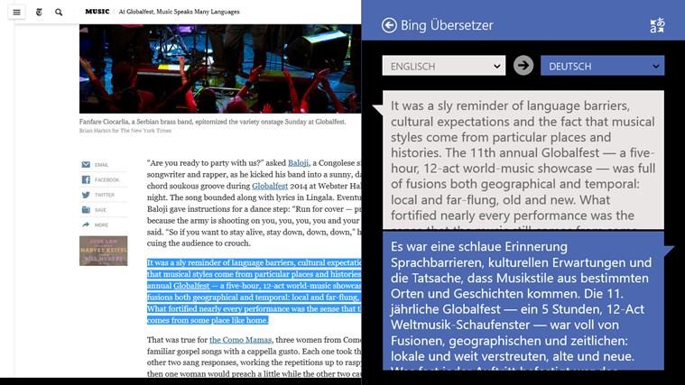 Bing Übersetzer Screenshot 3