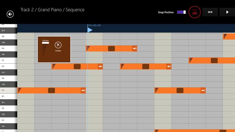 Musical Sketch Pad screen shot 1