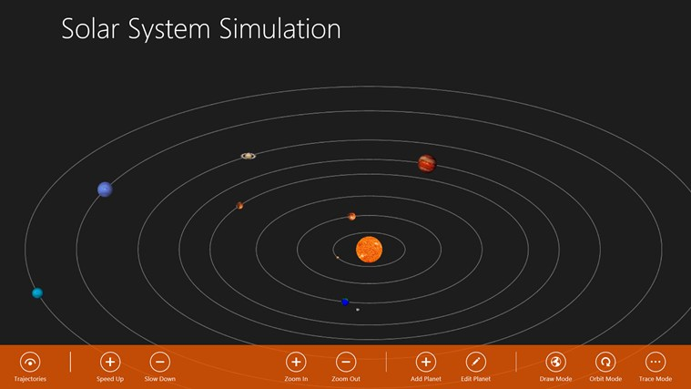 Solar System Simulation screen shot 5