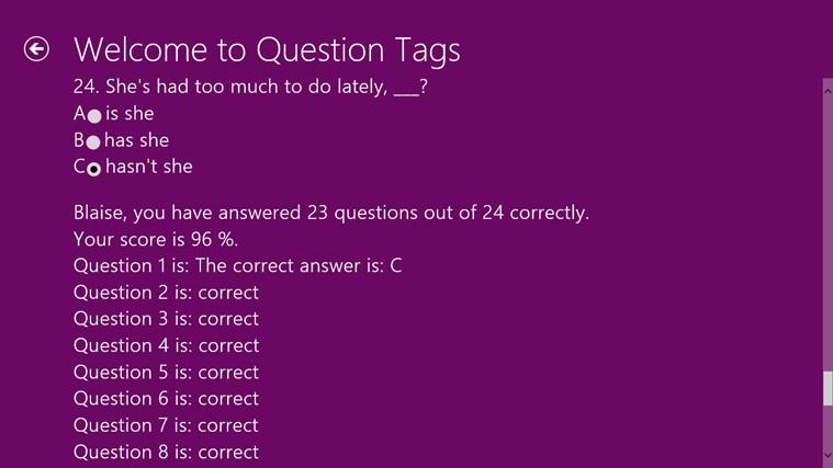 English Grammar Exercises screen shot 3