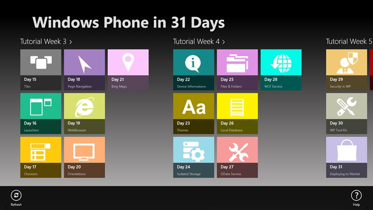 Windows Phone in 31 Days screen shot 1