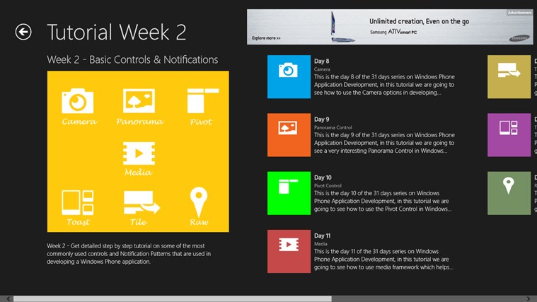 Windows Phone in 31 Days screen shot 3