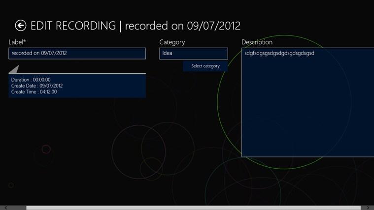Pocket Recorder screen shot 1