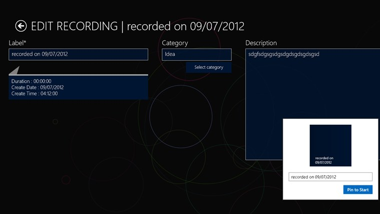 Pocket Recorder screen shot 3