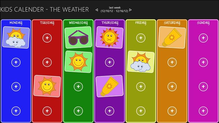 Kids Weather Calendar : Kids calendar the weather