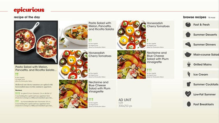 Epicurious screen shot 3