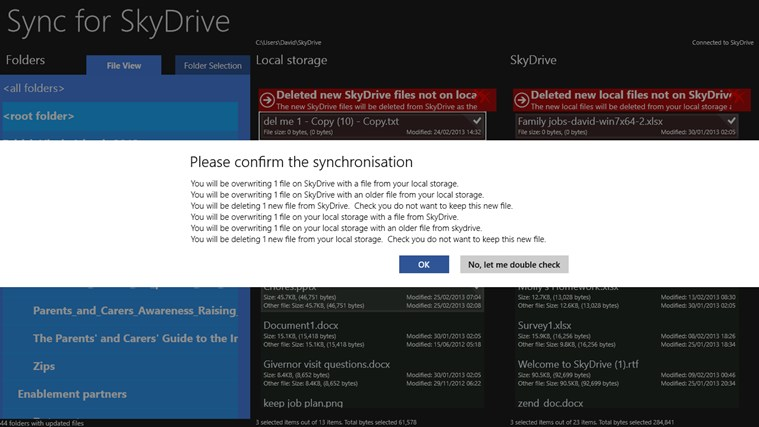 Sync for SkyDrive screen shot 3