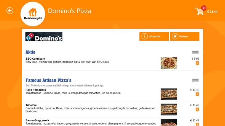 Thuisbezorgd.nl schermafbeelding 1