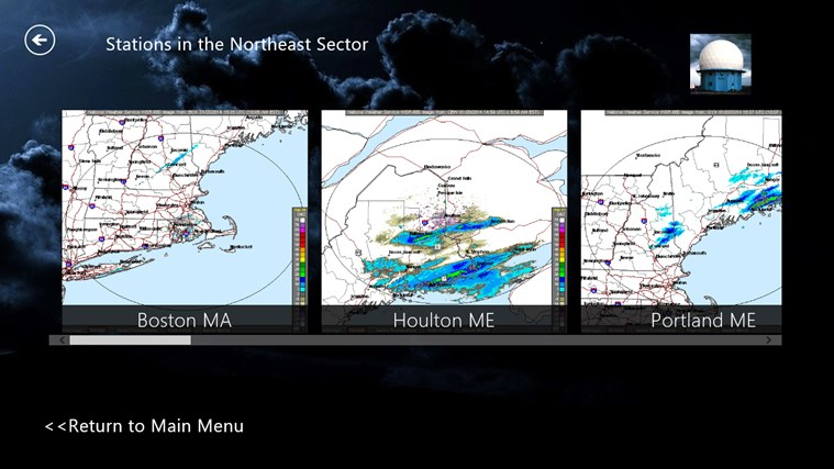 NOAA Doppler Radar Mosaic Imagery screen shot 3