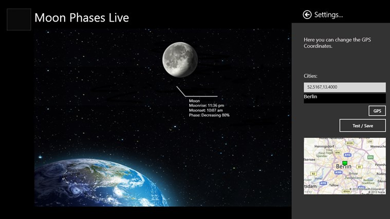 Moon Phases Live screen shot 3