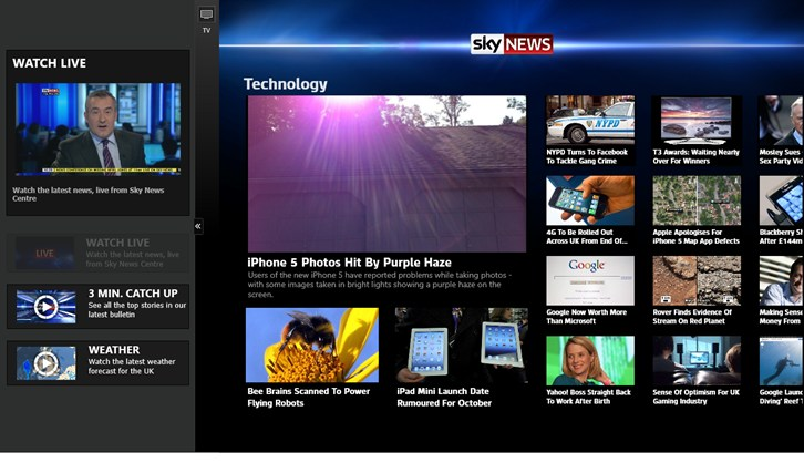 Sky News screen shot 1