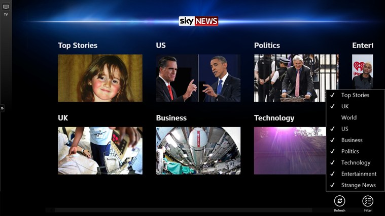 Sky News screen shot 7