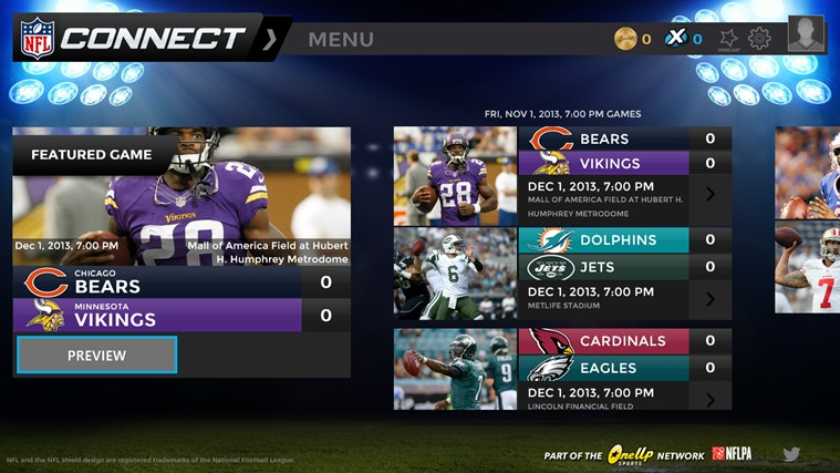 NFL Connect screen shot 1