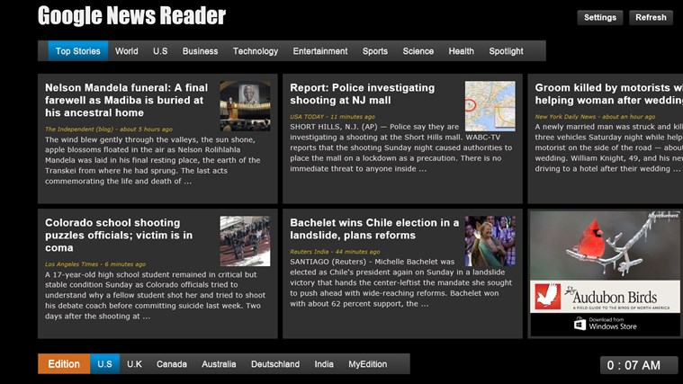 Google News - Reader screen shot 1