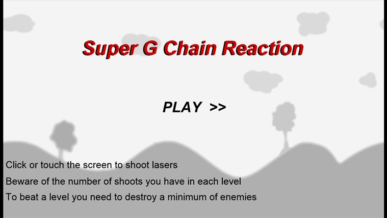 Super G Chain Reaction screen shot 1