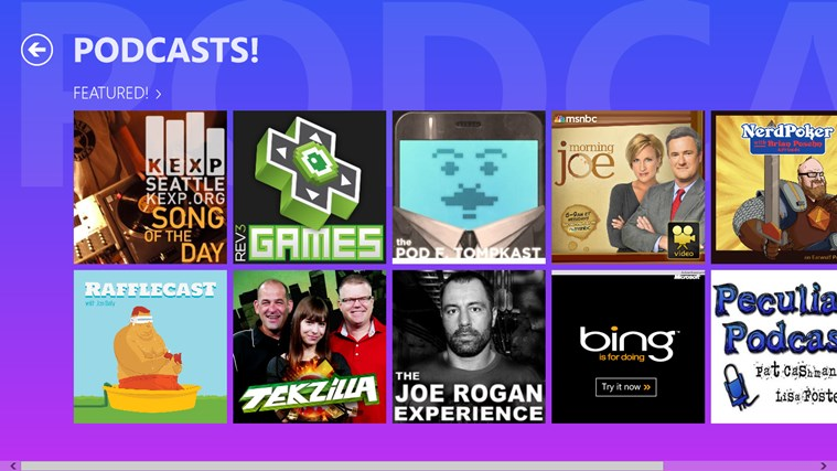 PODCASTS! screen shot 5