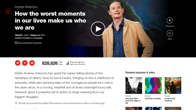 TED screen shot 1