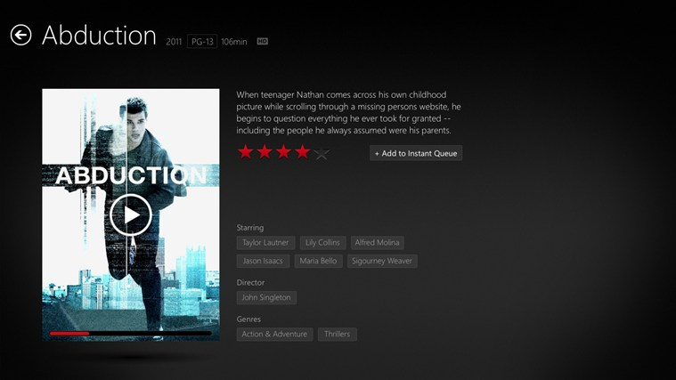 Netflix screen shot 1