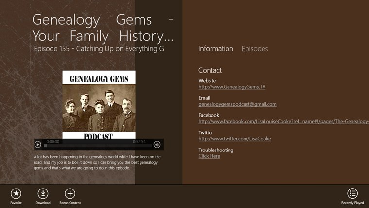 Genealogy Gems - Your Family History Show screen shot 1