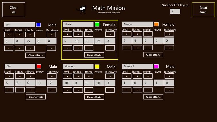 Math Minion petikan skrin 1