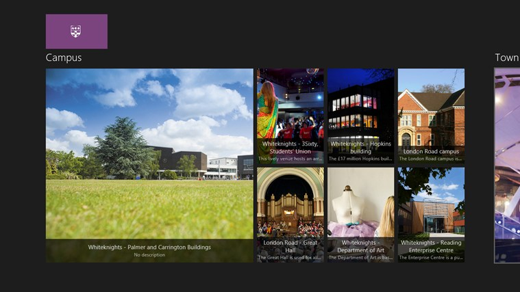 University of Reading screen shot 1