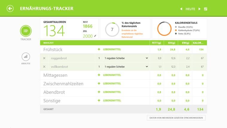 MSN Gesundheit & Fitness Screenshot 3