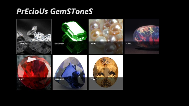 Precious Gemstones screen shot 1