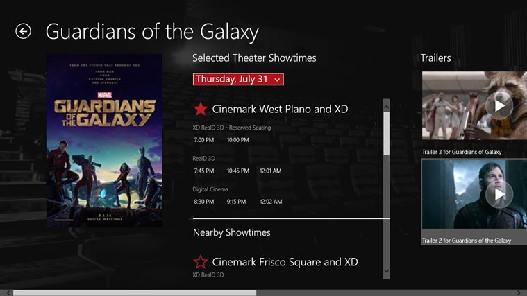 Cinemark Theatres screen shot 1
