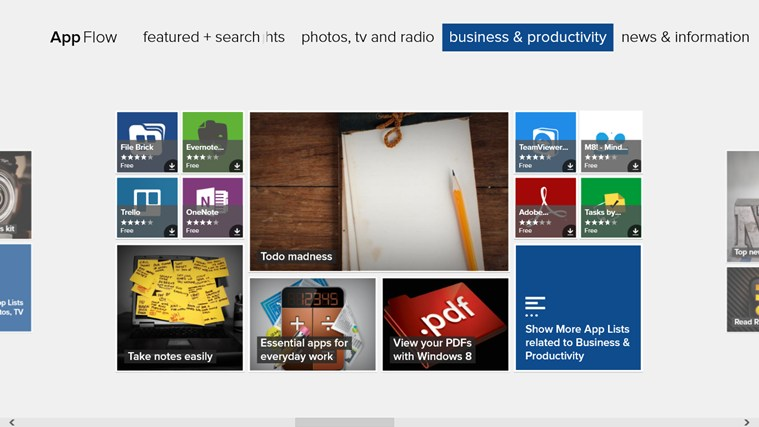 AppFlow App Discovery screen shot 1