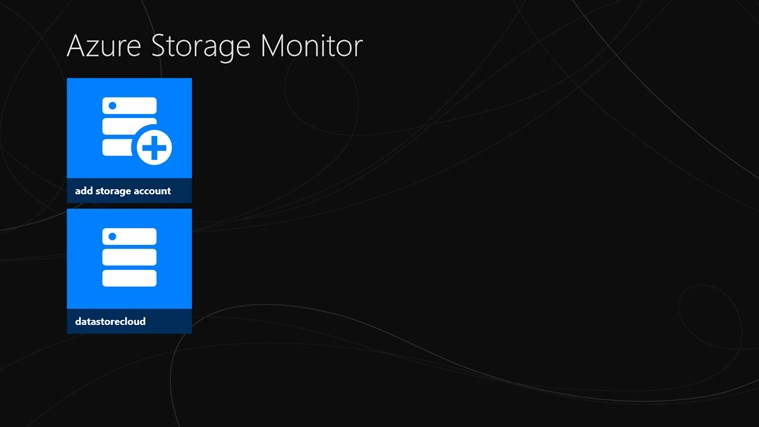 Azure Storage Metrics screen shot 1