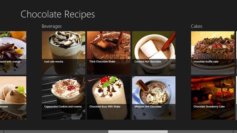 Chocolate Recipes screen shot 1