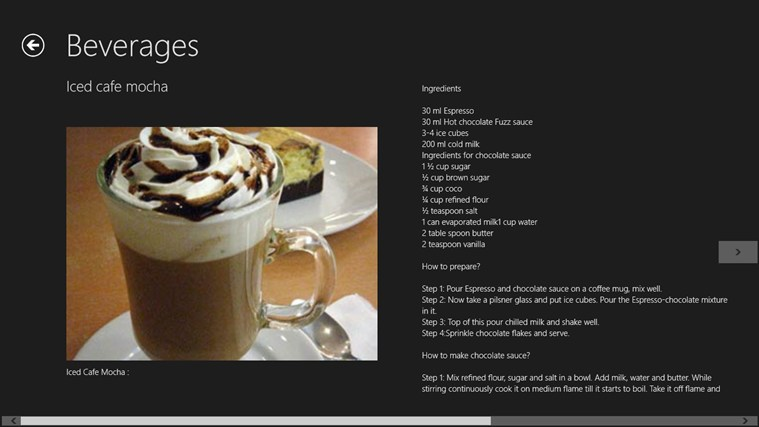 Chocolate Recipes screen shot 5