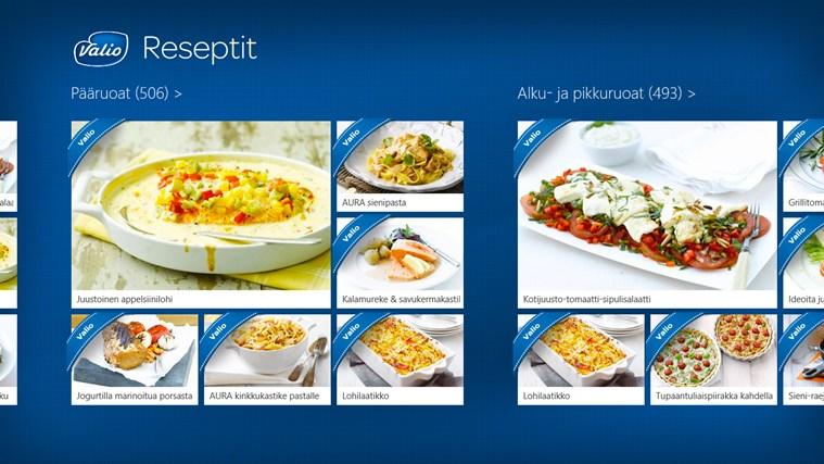 Valio Reseptit näyttökuva 1