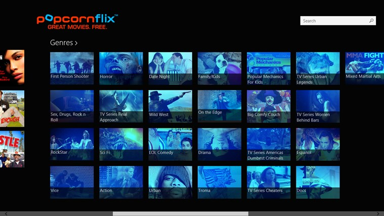 Popcornflix screen shot 1