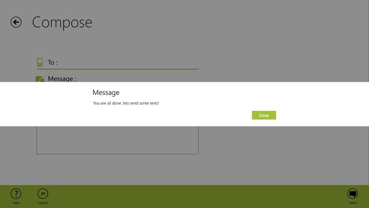 Free SMS screen shot 3